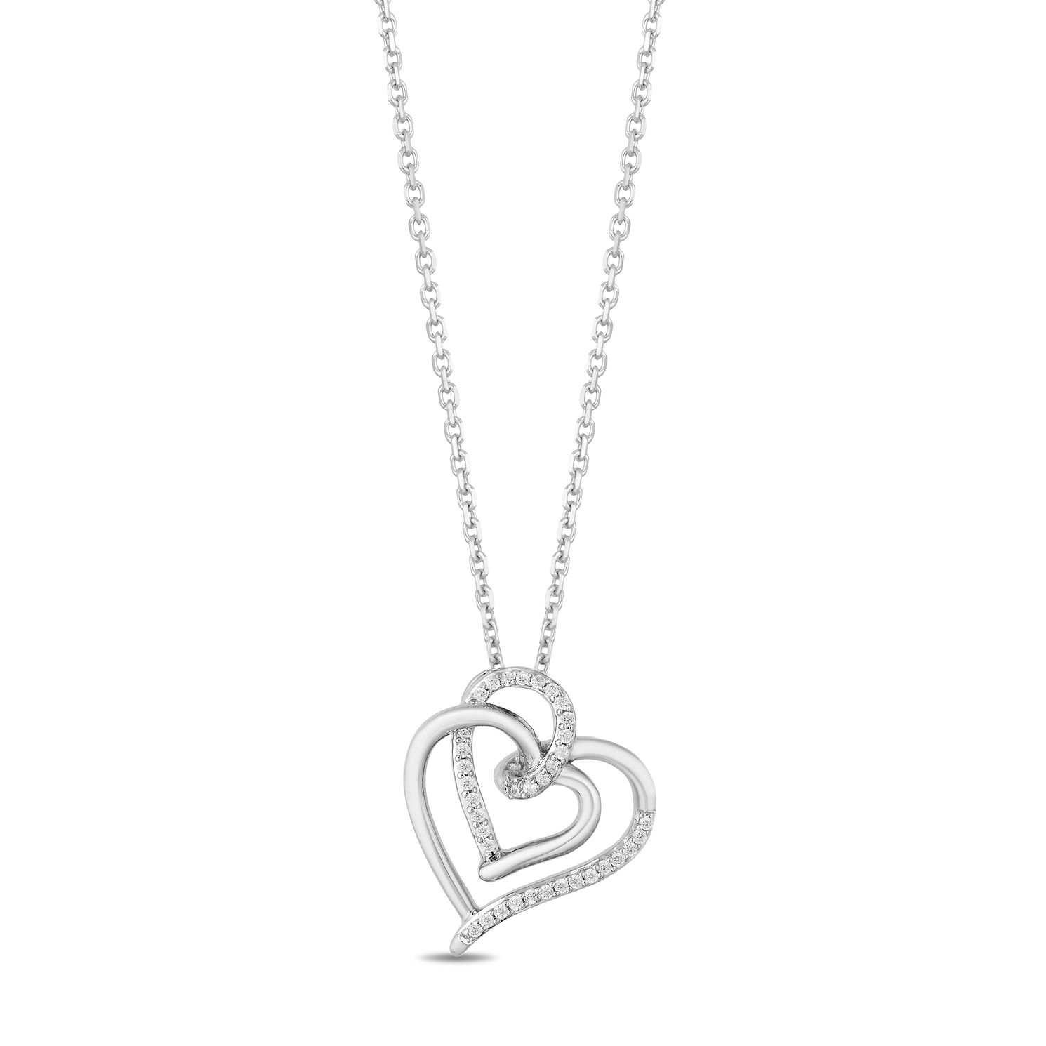 Hallmark Silver Diamond Intertwined Hearts Pendant - Product number 4821262
