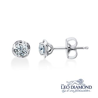 Leo Diamond 18ct White Gold 0.50ct Diamond Earrings - Product number 4822994