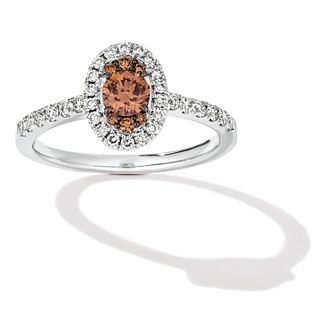 Le Vian 14ct Vanilla Gold 0.58ct Diamond Oval Cluster Ring - Product number 4823370