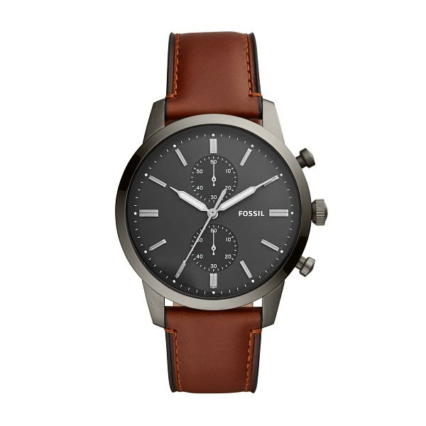 Fossil Townsman Men's Brown Leather Strap Watch - Product number 4826124