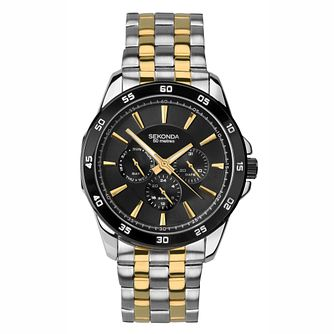 Sekonda Men's Two Tone With Black Dial Bracelet Watch - Product number 4828127