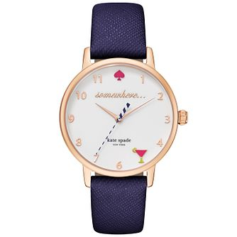 Kate Spade Metro Ladies' Rose Gold Tone Strap Watch - Product number 4832809