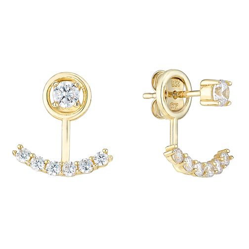 9ct Yellow Gold Cubic Zirconia Ear Jackets - Product number 4834453