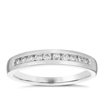 Platinum 1/4ct Diamond 10 Stone Eternity Ring - Product number 4834879