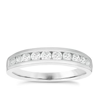 Platinum 1/2ct Diamond 10 Stone Eternity Ring - Product number 4835174