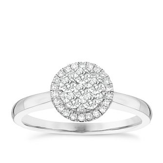 Platinum 1/3ct Diamond Cluster Ring - Product number 4836804