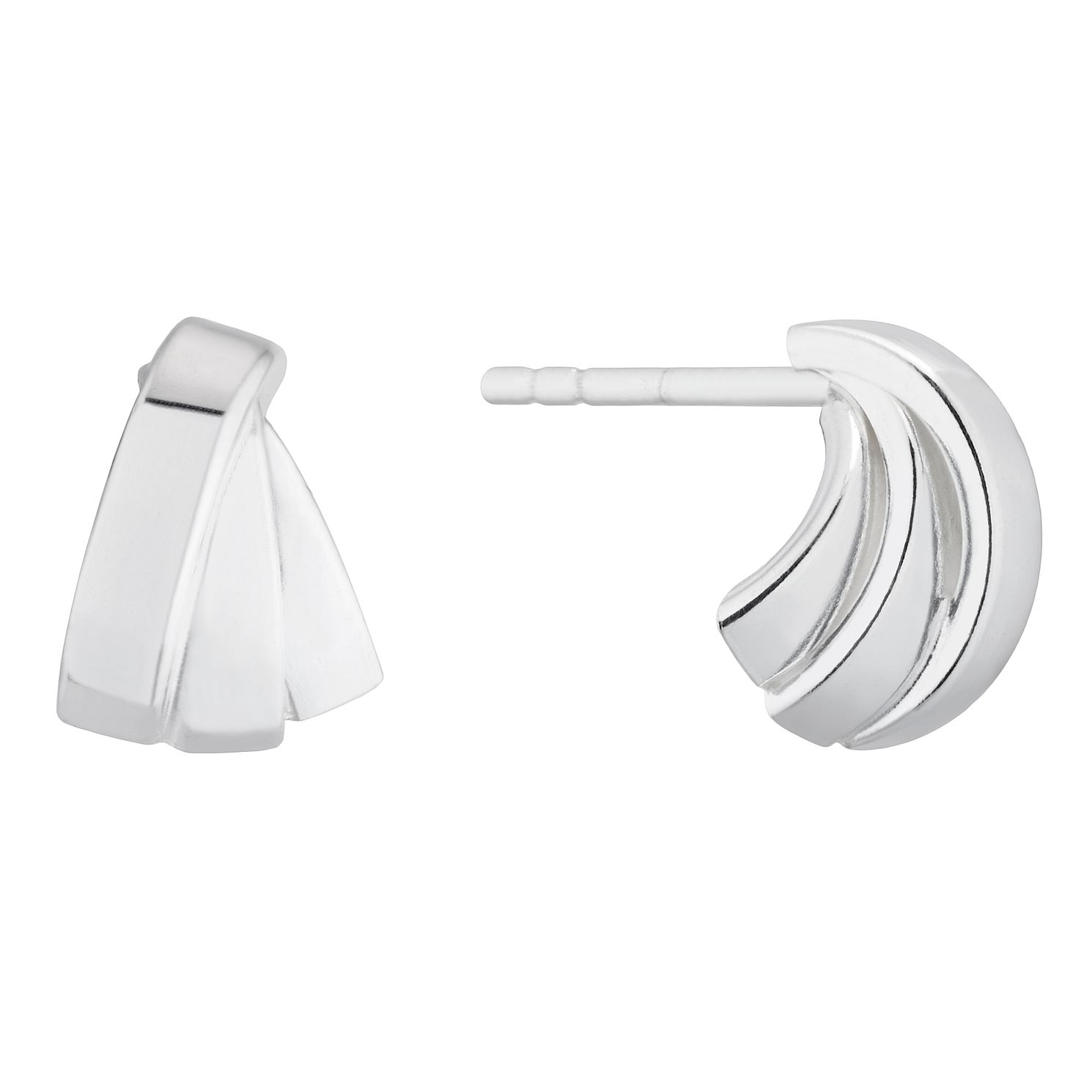 Silver Triple Row Stud Earrings - Product number 4841492