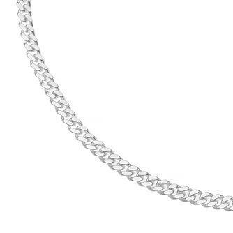 "Silver 20"" Curb Chain Necklace - Product number 4841565"