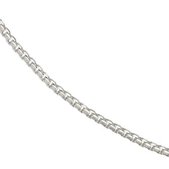 Silver Rhodium-Plated Box Chain Necklace 20 inches - 100g - Product number 4841662