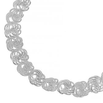 Silver Rosette Chain Bracelet - Product number 4841751