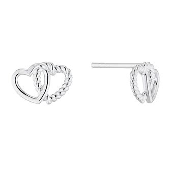 Silver Entwined Double Heart Stud Earrings - Product number 4842030