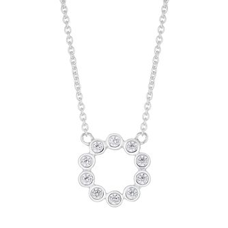 Silver Cubic Zirconia Circle Pendant - Product number 4842049
