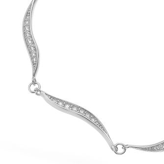 Silver Cubic Zirconia Wave Bracelet - Product number 4842162