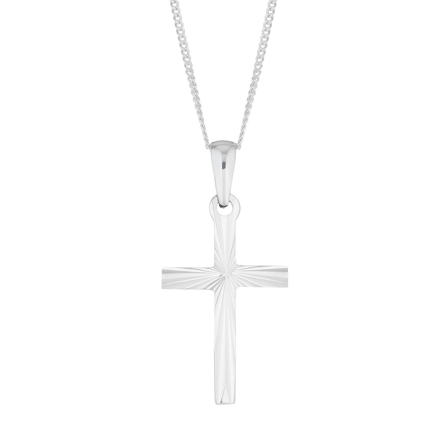 Silver Diamond-Cut Cross Pendant - Product number 4842677