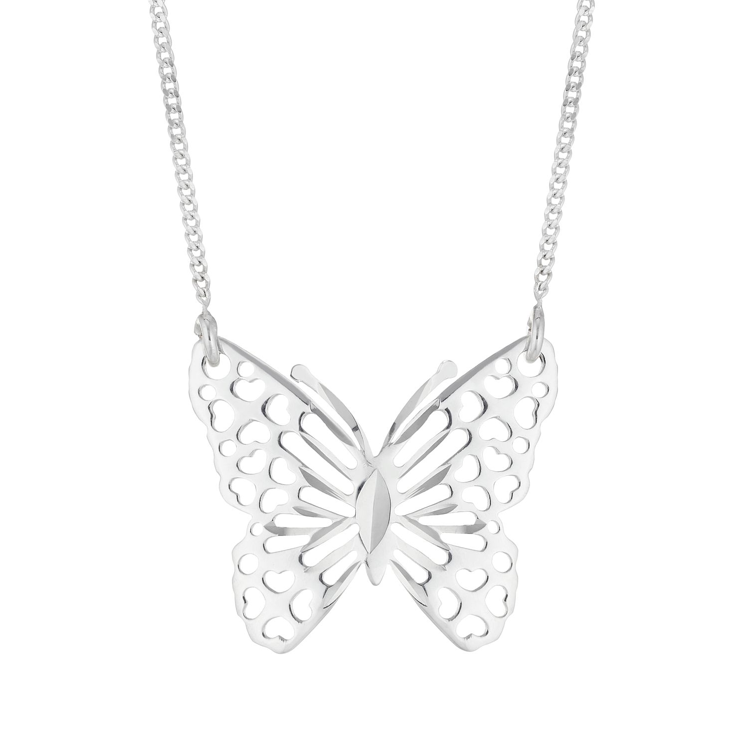 Silver Butterfly Necklace - Product number 4842715