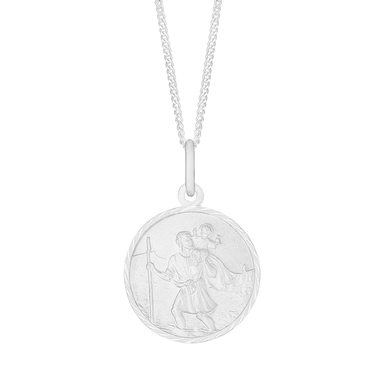 Silver St Christopher Pendant - Product number 4842804