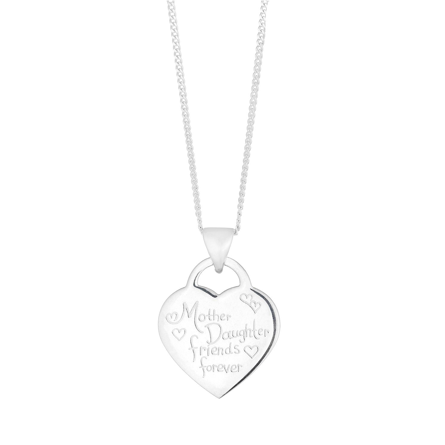Silver Mother & Daughter Friends Forever Heart Pendant - Product number 4842812