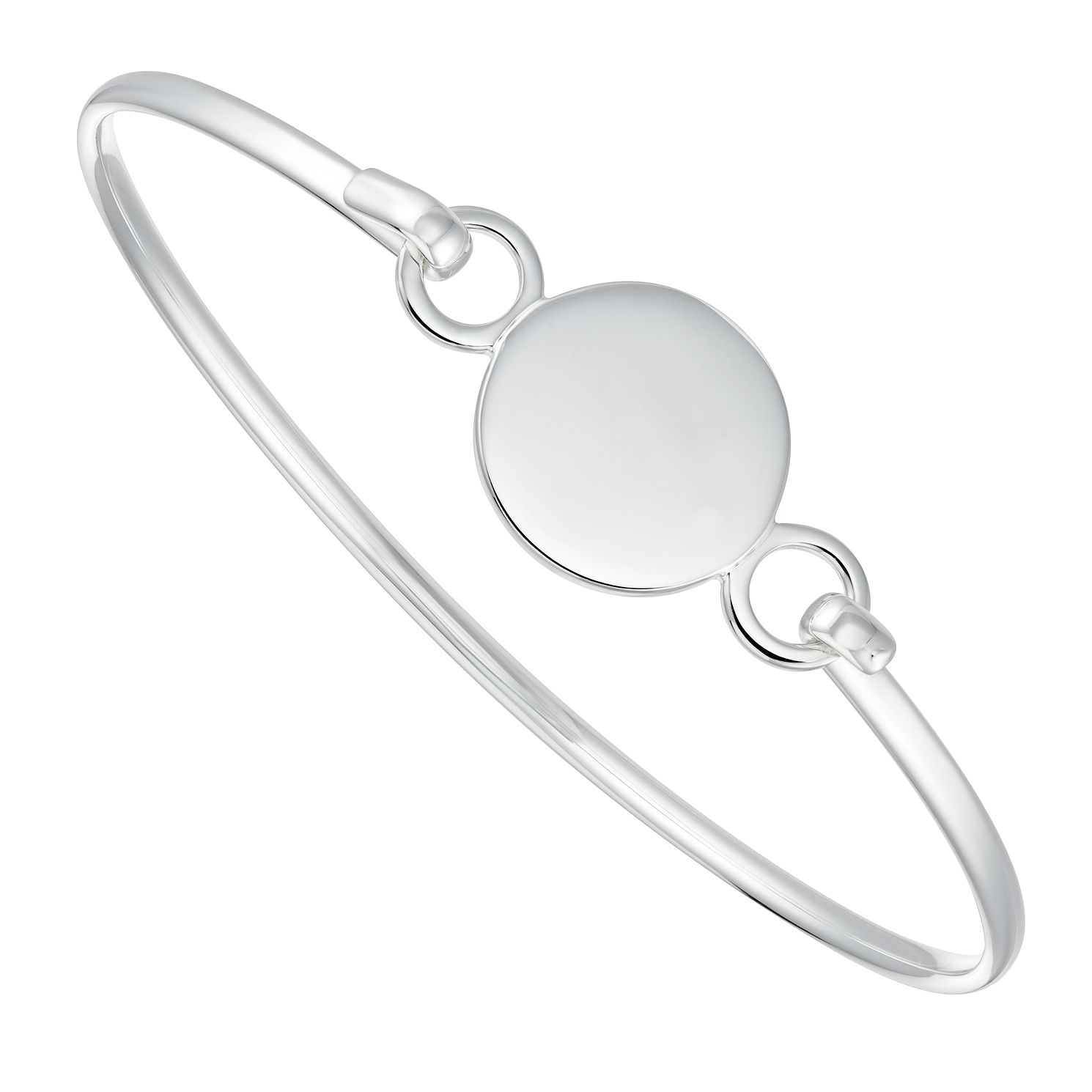 Silver Disc Hook Bangle - Product number 4843223