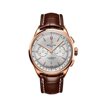 Breitling Premier B01 Chronograph Brown Leather Strap Watch - Product number 4844750