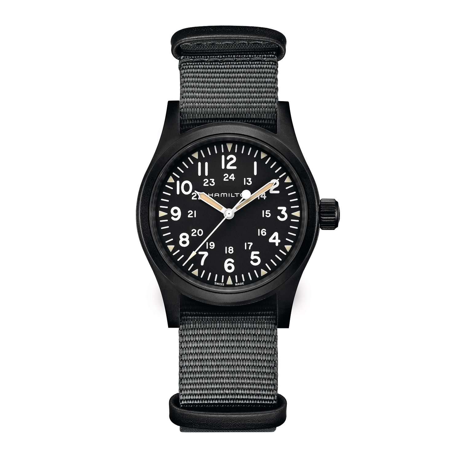 Hamilton Khaki Field Grey Fabric Strap Watch - Product number 4845528