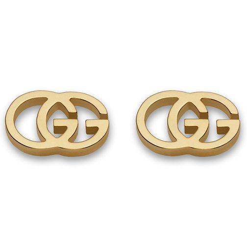 6bc88533510 Gucci 18ct Yellow Gold Stud Earring YBD094074002 - Ernest Jones