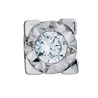 Men's 9ct White Gold 1/10 Carat Diamond Stud Earring - Product number 4846117