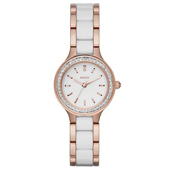 DKNY Ladies' Two Colour Stone Set Bracelet Watch - Product number 4847954