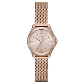 DKNY Ladies' Rose Gold Tone Bracelet Watch - Product number 4848098