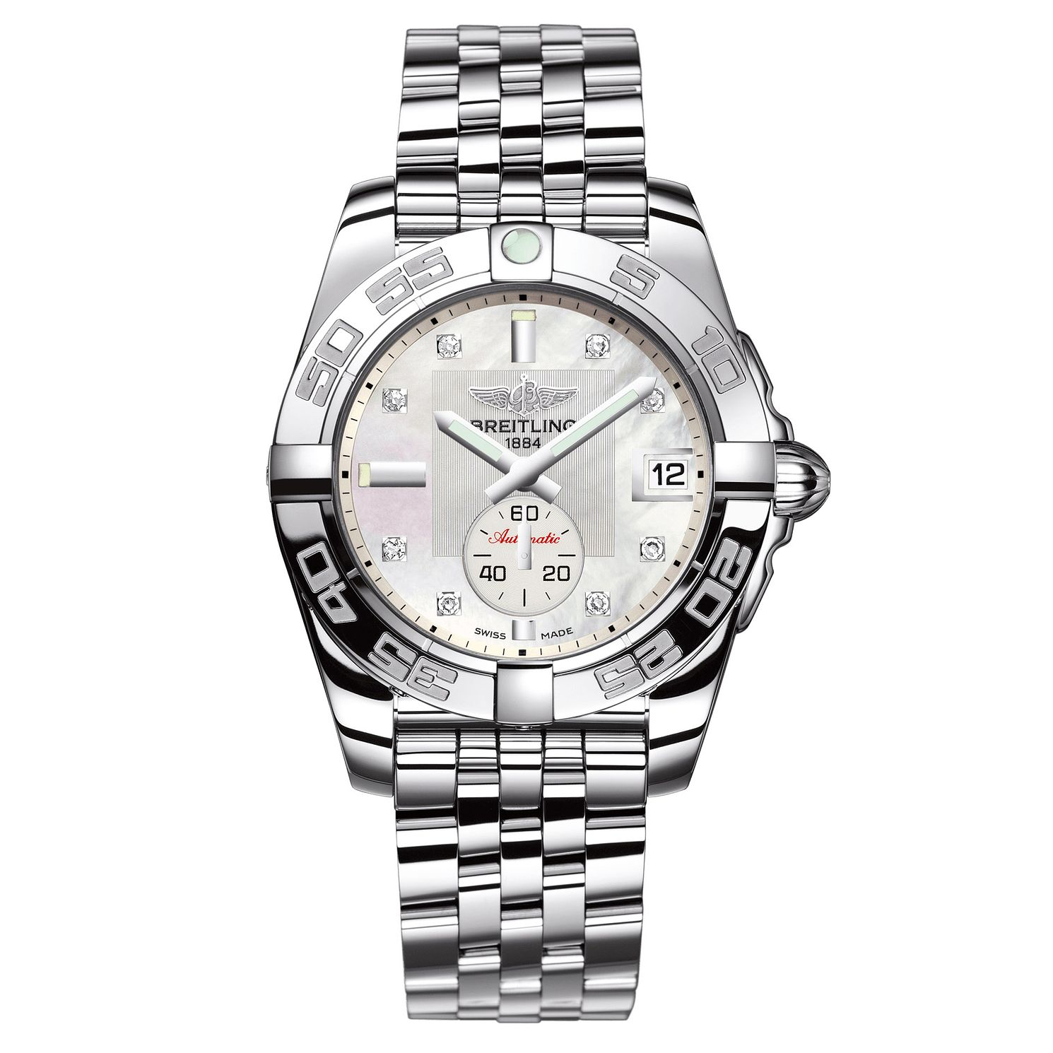 Breitling Galactic Diamonds Ladies' Steel Bracelet Watch - Product number 4850122