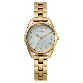 Citizen Eco-Drive Silhouette Gold Tone Bracelet Watch - Product number 4850173