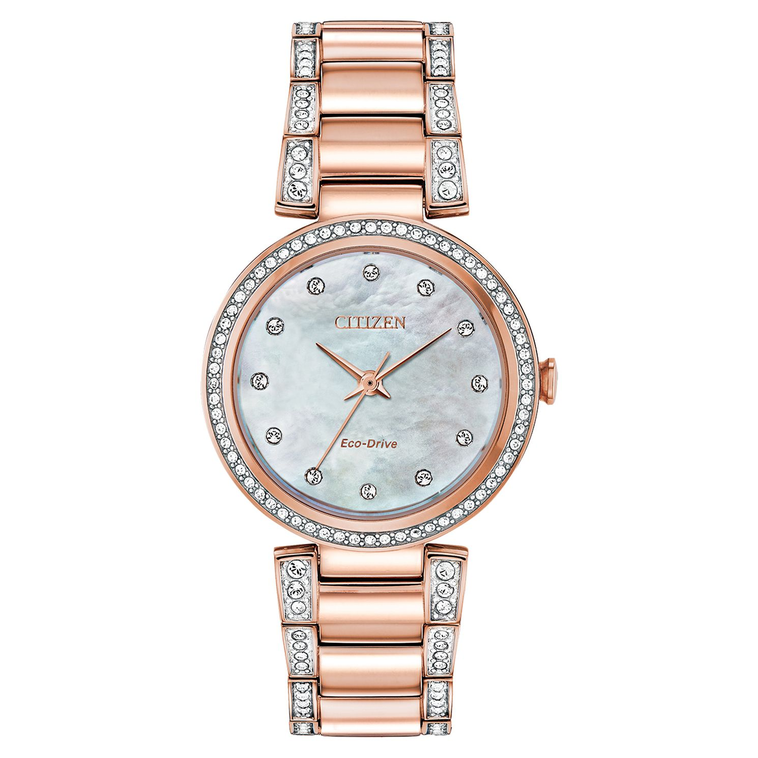 Citizen Eco-Drive Silhouette Crystal Rose Tone Watch - Product number 4850335