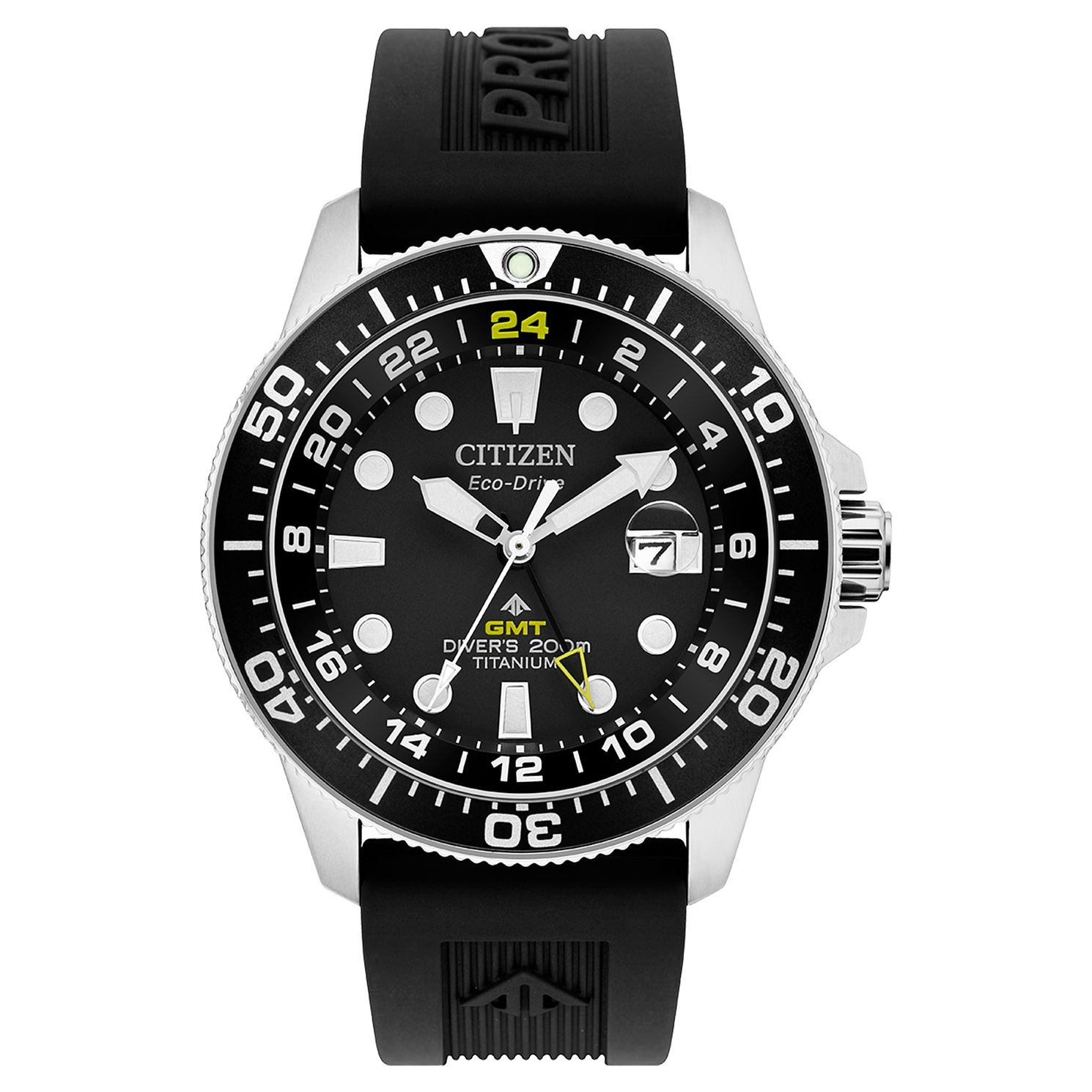 Citizen Super Titanium Men's Black Rubber Strap Watch - Product number 4851064