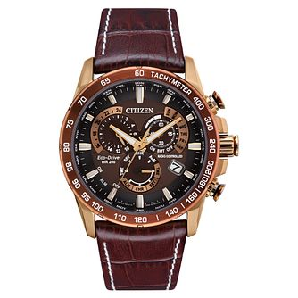Citizen Eco-Drive Men's Perpetual Leather Strap Watch - Product number 4851560
