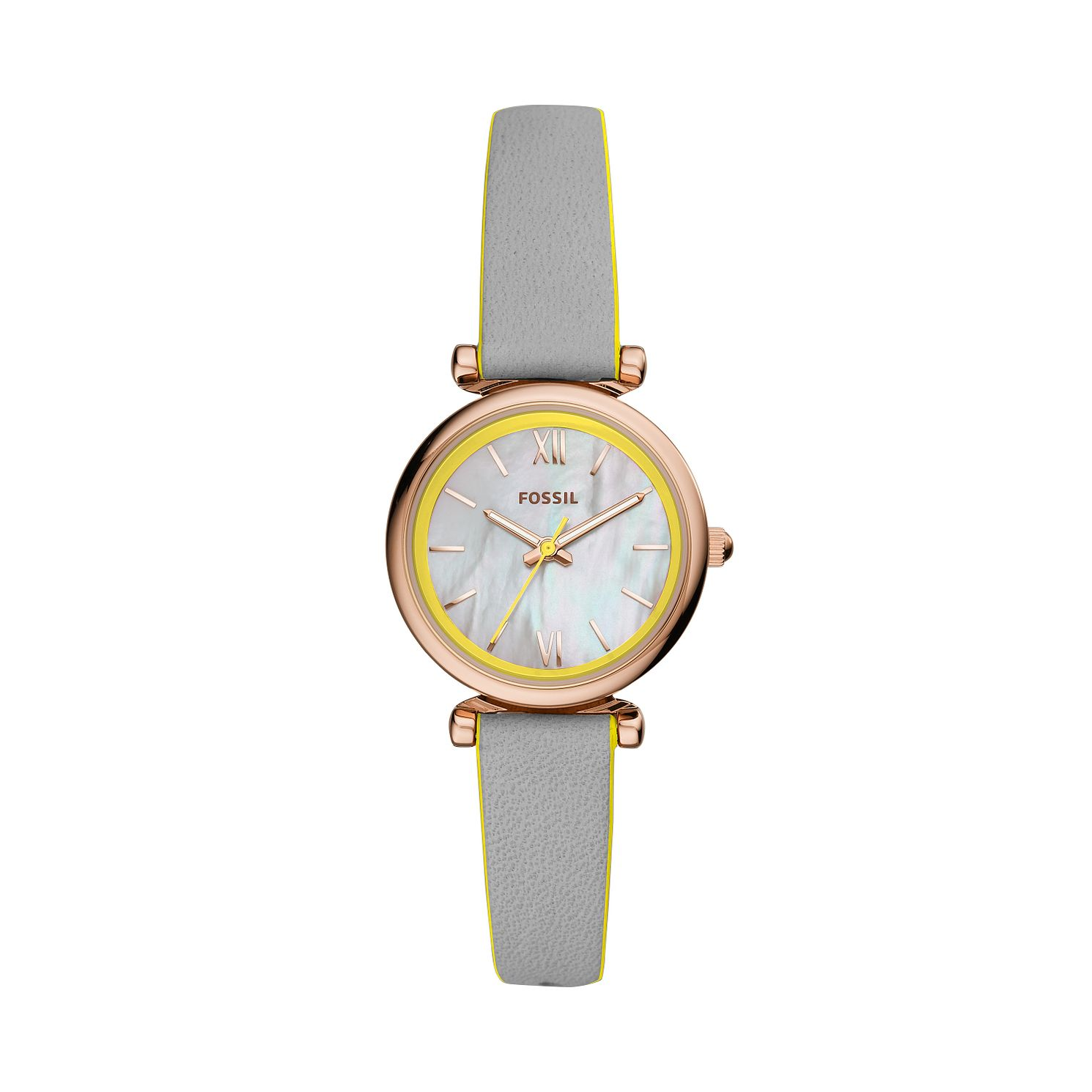 Fossil Ladies' Carlie Grey Leather Strap Watch - Product number 4851641
