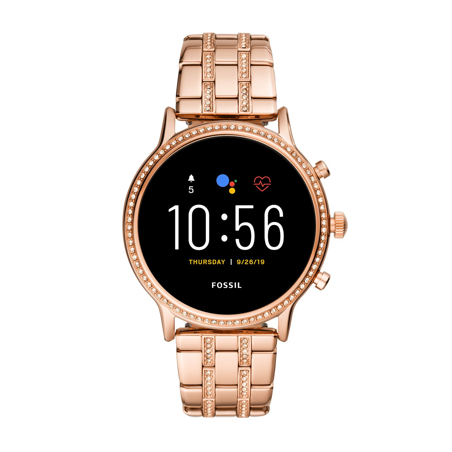 Fossil Julianna HR Rose Tone Bracelet Smartwatch - Product number 4851862