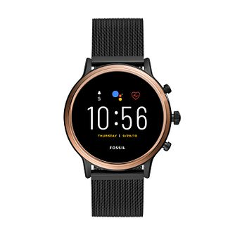 Fossil Julianna HR Black Stainless Steel Smartwatch - Product number 4851870