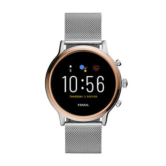 Fossil Stainless Steel Mesh Bracelet Smart Watch - Product number 4851889