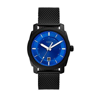 Fossil Men's Machine Blue Dial Black Bracelet Watch - Product number 4852001