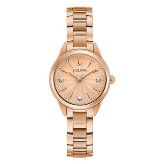 Bulova Sutton Ladies' Rose Gold Tone Bracelet Watch - Product number 4852362