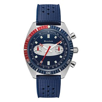 Bulova Archive Men's Blue Silicone Strap Watch - Product number 4852370