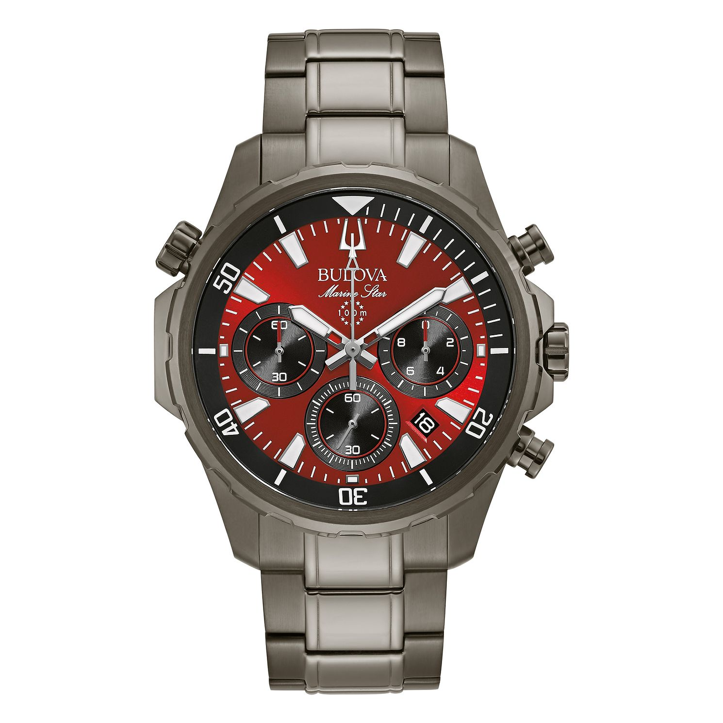 Bulova Marine Star Men's Grey Stainless Steel Bracelet Watch - Product number 4852397