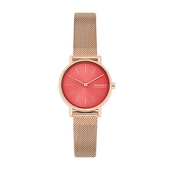 Skagen Signatur Rose Gold Stainless Steel Bracelet Watch - Product number 4852451