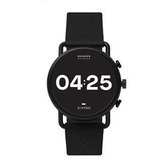Skagen Falster 3 X by KYGO Black Silicone Strap Smartwatch - Product number 4852494