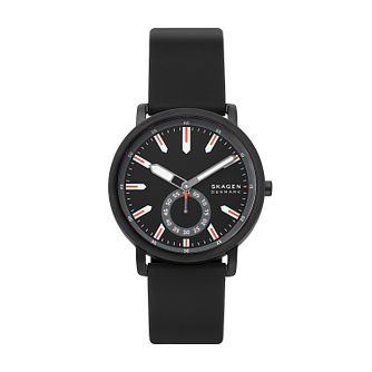 Skagen Men's Colden Blue Dial Black Silicone Strap Watch - Product number 4852540