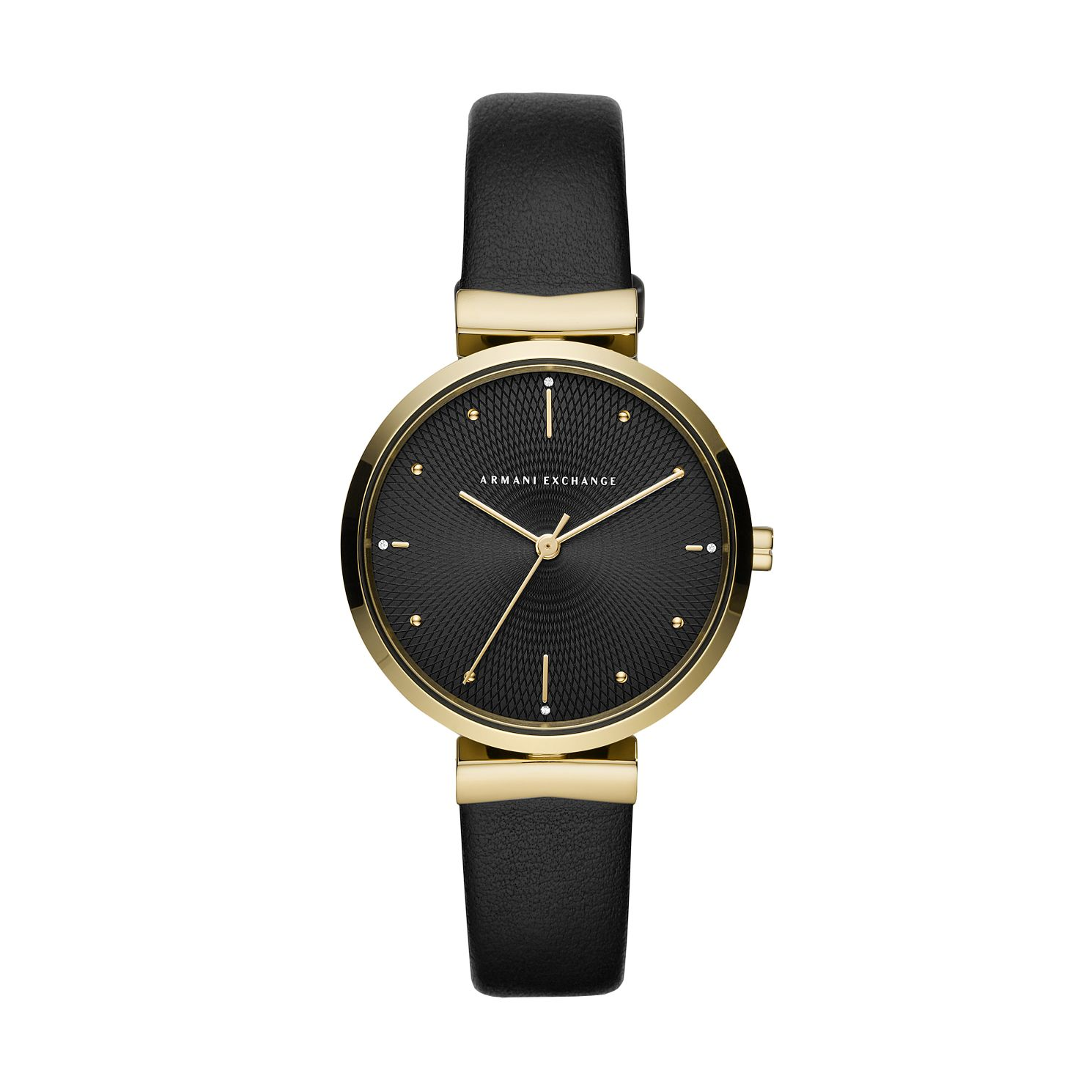 Armani Exchange Ladies' Black Leather Strap Watch - Product number 4852591