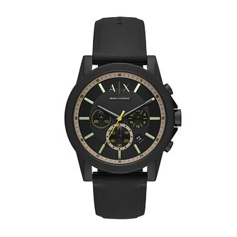Armani Exchange Men's Black Silicone Strap Watch - Product number 4852648