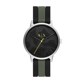 Armani Exchange Men's Two Colour Silicone Strap Watch - Product number 4852672