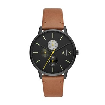 Armani Exchange Men's Brown Leather Strap Watch - Product number 4852702