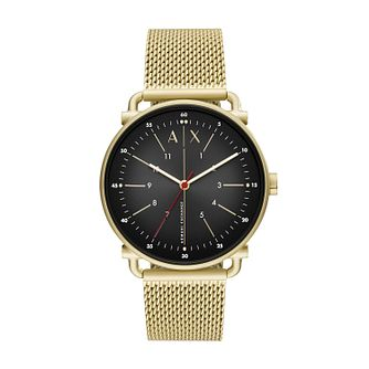 Armani Exchange Men's Gold Tone Mesh Bracelet Watch - Product number 4852729