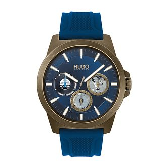 HUGO #TWIST Blue Silicone Strap Watch - Product number 4852966